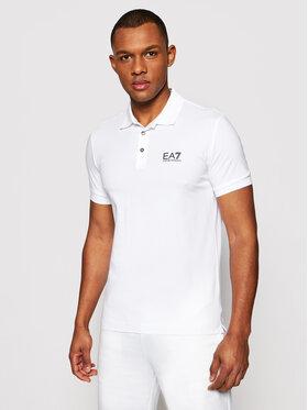 EA7 Emporio Armani EA7 Emporio Armani Polo marškinėliai 8NPF04 PJM5Z 1100 Balta Regular Fit