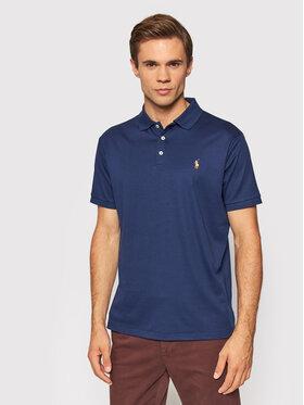 Polo Ralph Lauren Polo Ralph Lauren Тениска с яка и копчета 710713130006 Тъмносин Custom Slim Fit