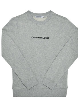 Calvin Klein Jeans Calvin Klein Jeans Mikina Embroidered Logo IB0IB00547 Sivá Regular Fit