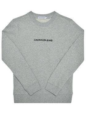 Calvin Klein Jeans Calvin Klein Jeans Sweatshirt Embroidered Logo IB0IB00547 Grau Regular Fit