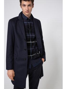 Hugo Hugo Vlnený kabát Migor2041 50438437 Tmavomodrá Slim Fit