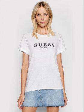 Guess Guess Marškinėliai W0GI69 R8G01 Balta Regular Fit