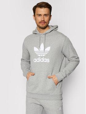 adidas adidas Bluza Trefoil Warm-Up DT7963 Szary Regular Fit