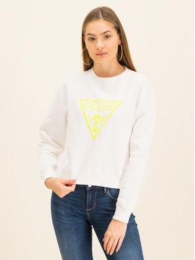 Guess Guess Bluza Neon Fleece W01Q56 K68I0 Biały Regular Fit