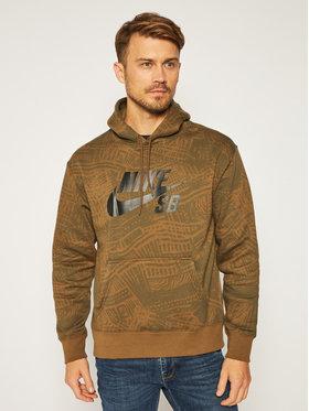 NIKE NIKE Sweatshirt Sb CK5125 Grün Standard Fit