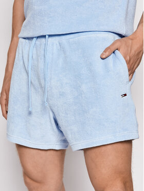 Tommy Jeans Tommy Jeans Szorty materiałowe Tjm Toweling DM0DM11521 Niebieski Regular Fit