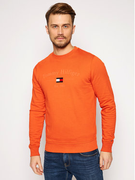 Tommy Hilfiger Tommy Hilfiger Sweatshirt Arch Artwork MW0MW15263 Orange Regular Fit