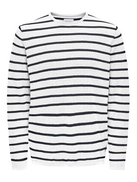 Only & Sons ONLY & SONS Sweter Moose 22016233 Biały Regular Fit