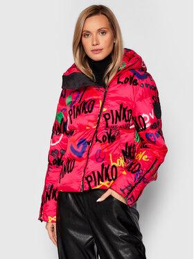 Pinko Pinko Pernata jakna Rocky Away Imbottito 1G16D2 Y76Q Ružičasta Regular Fit