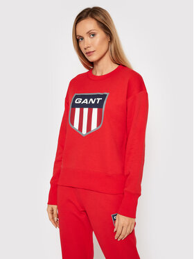 Gant Gant Sweatshirt Retro Shield 4204562 Rot Relaxed Fit