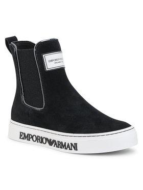 Emporio Armani Emporio Armani Členková obuv s elastickým prvkom X3Z045 XM537 N181 Čierna
