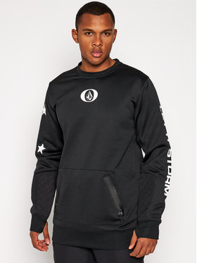 Volcom Volcom Pulóver Let It Storm Crew G4652100 Fekete Regular Fit