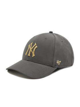 47 Brand 47 Brand Шапка с козирка New York Yankees Metallic Snap B-MTLCS17WBP-CC Сив