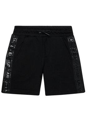 KARL LAGERFELD KARL LAGERFELD Pantaloni scurți sport Z24109 D Negru Regular Fit