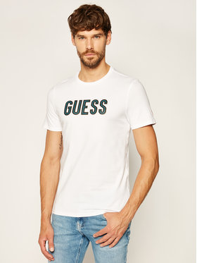 Guess Guess T-Shirt Deal M0YI9A J1300 Bílá Slim Fit