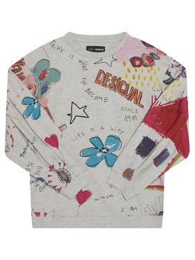 Desigual Desigual Džemperis Maine 20WGSK22 Pilka Regular Fit