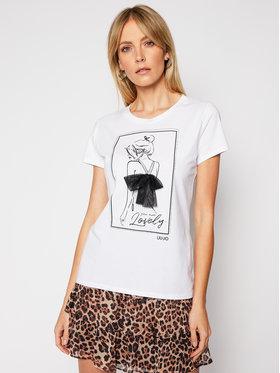 Liu Jo Liu Jo T-Shirt WA1266 J5003 Biały Regular Fit