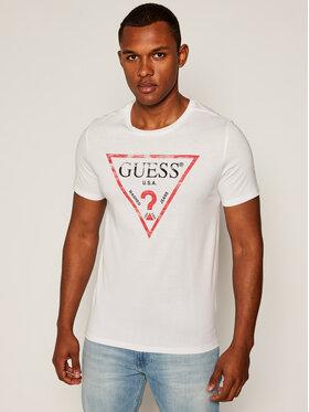 Guess Guess Marškinėliai Clear M81I13 I3Z00 Balta Slim Fit