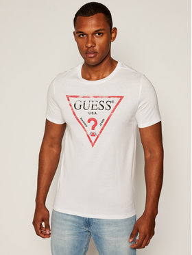 Guess Guess T-Shirt Clear M81I13 I3Z00 Λευκό Slim Fit