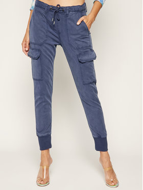 Pepe Jeans Pepe Jeans Текстилни панталони Crusade PL211262 Син Relaxed Fit
