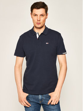 Tommy Jeans Tommy Jeans Polo Branded Rib DM0DM07802 Granatowy Regular Fit