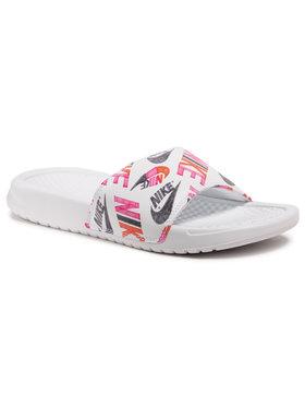 Nike Nike Nazouváky Benassi Jdi Print 618919 119 Bílá
