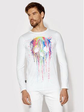 Rage Age Rage Age Majica dugih rukava Splashskull 2 Bijela Regular Fit