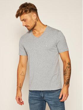 Calvin Klein Calvin Klein T-Shirt Logo Embroidery K10K103672 Szary Regular Fit