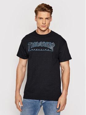 Thrasher Thrasher Tricou Outlined Negru Regular Fit