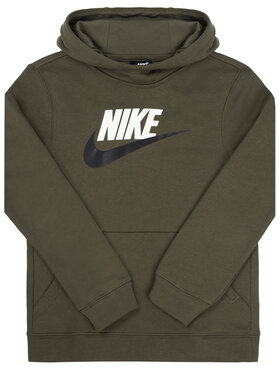 Nike Nike Mikina Club BV0783 Zelená Standard Fit