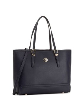 Tommy Hilfiger Tommy Hilfiger Torbica Honey Med Tote AW0AW04547 Tamnoplava