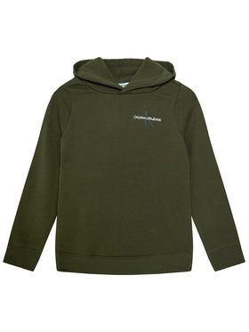 Calvin Klein Jeans Calvin Klein Jeans Sweatshirt Monogram IU0IU00164 Grün Regular Fit