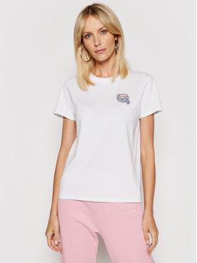 KARL LAGERFELD KARL LAGERFELD T-Shirt Mini Ikonik Balloon Karl Tee 211W1715 Weiß Regular Fit