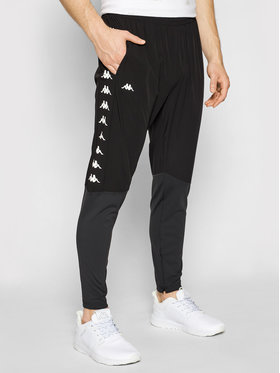 Kappa Kappa Spodnie dresowe Hammo 308037 Czarny Slim Fit