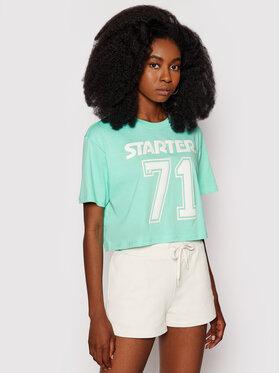 Starter Starter T-Shirt SDG-006-BD Zielony Relaxed Fit