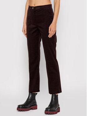 Pinko Pinko Kalhoty z materiálu Gaio 1G16U9 Y787 Hnědá Regular Fit