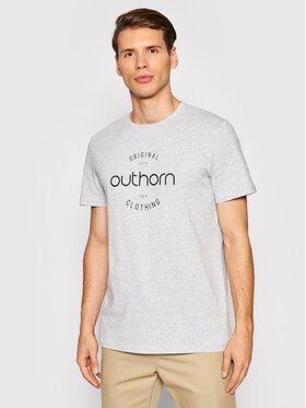 Outhorn Outhorn T-Shirt TSM600A Szary Regular Fit