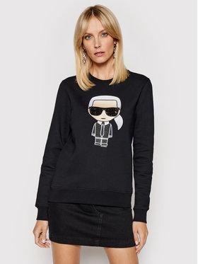 KARL LAGERFELD KARL LAGERFELD Sweatshirt Ikonik 210W1820 Schwarz Regular Fit