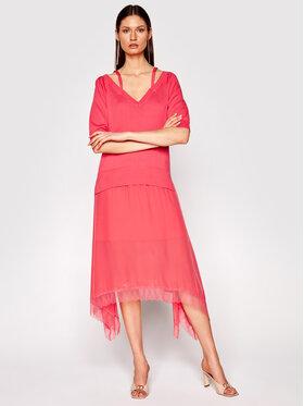 TwinSet TwinSet Úpletové šaty 211TT3190 Ružová Regular Fit