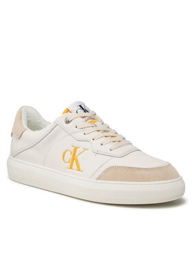 Calvin Klein Jeans Calvin Klein Jeans Sneakersy Cupsole LAceup Casual Warm YM0YM00283 Bílá
