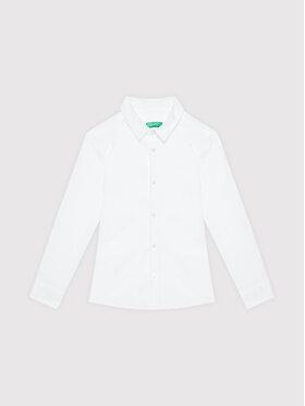 United Colors Of Benetton United Colors Of Benetton Риза 5AWR5QEU0 Бял Regular Fit