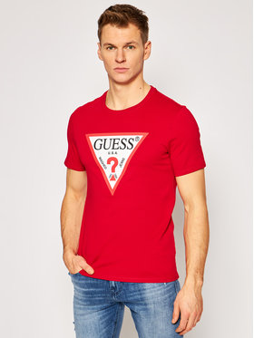 Guess Guess T-Shirt M1RI71 I3Z11 Rot Slim Fit