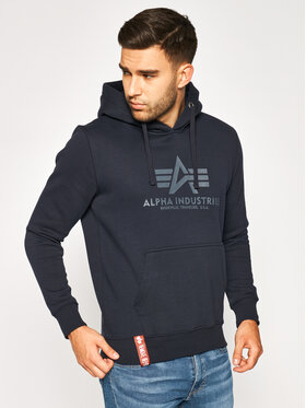 Alpha Industries Alpha Industries Bluza Basic 178312 Granatowy Regular Fit