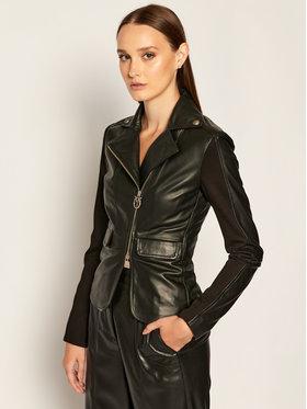 Pinko Pinko Kožená bunda Franco 20202 BLK01 1G1514 Y5N8 Čierna Regular Fit