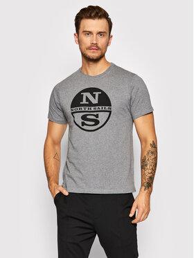 North Sails North Sails T-Shirt 692752 Szary Regular Fit