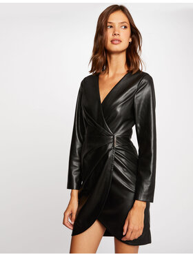 Morgan Morgan Kleid aus Kunstleder 212-RLEA Schwarz Slim Fit