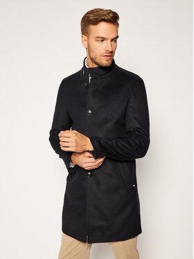 Tommy Hilfiger Tailored Tommy Hilfiger Tailored Vlnený kabát Stand Up Collar TT0TT08544 Tmavomodrá Regular Fit