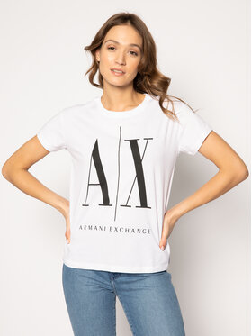 Armani Exchange Armani Exchange T-Shirt 8NYTCX YJG3Z 5100 Bílá Regular Fit