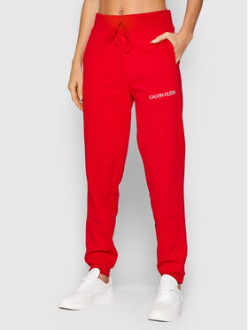 Calvin Klein Performance Calvin Klein Performance Спортивні штани 00GWF1P608 Червоний Regular Fit