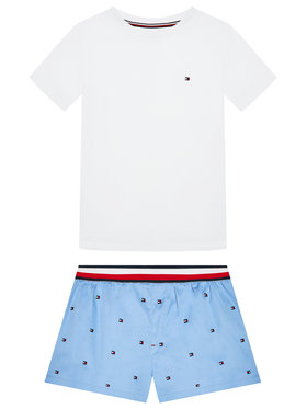 Tommy Hilfiger Tommy Hilfiger Pijama Set Woven Emroidery UB0UB00386 Alb